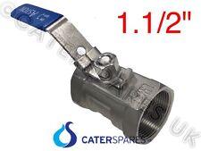 1.5 in (ca. 3.81 cm) Friggitrice Hi temperatura nominale valvola di spurgo dell'olio con manico di bloccaggio di sicurezza