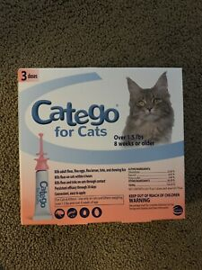 Catego Fast-Acting Flea & Tick Treatment For Cats/Kittens Over 1.5 lbs  3 Pack