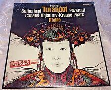 NIB Vtg Puccini Turandot LP Imported Pressing Sutherland Pavarotti London Record