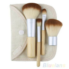 New Fashion Trendy Bamboo Makeup Brush Set 5Pcs Make Up Brushes B8BU