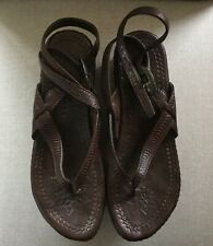 Ash beautiful strappy brown sandals size 6 good condition