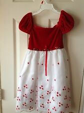 Girls holiday dress white and red size 4T