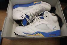 "Nike Air Jordan 5 V Retro ""Laney"" White Royal Blue Shoes Size 11 (136027-189)"