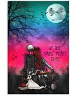Jack and Sally We are simply meant to be Poster Wall art Home decor