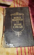 VINTAGE BIBLE READINGS FOR THE HOME CIRCLE, 1914, LEATHER