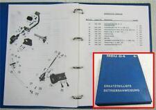 MBU G4 Grader Bedienungsanleitung und Ersatzteilliste