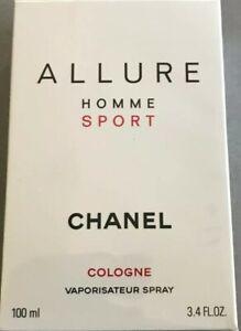 Chanel Allure Homme Sport COLOGNE SPRAY COLONIA uomo 100 ml profumo originale