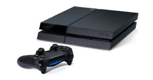 Sony PlayStation 4 (PS4) - 500 GB Black Console w/ accessories--6 month warranty