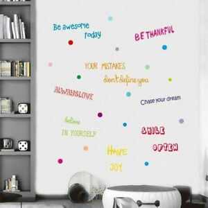 Inspirational Quotes Wall Decal,Motivational Phrases Sticker for Home Decoration
