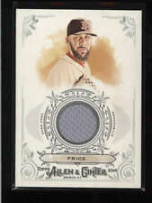 DAVID PRICE 2018 TOPPS ALLEN & GINTER GAME USED WORN JERSEY AJ6142