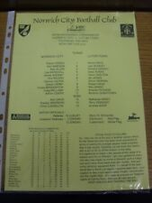 15/05/1997 Norwich City Reserves v Luton Town Reserves [Black & Yellow] (single