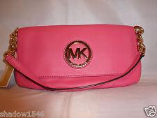 NWT Michael Kors MK Fulton Zinnia Small Leather Chain Handle Shoulder Bag