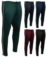Mens Contrast Skinny Stripe Jogging Athletic Running Tapered Sports PE Bottoms