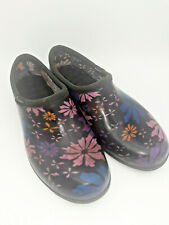 Sloggers Closed Back Floral Garden Clogs Women's Size 8 Pink Purple Blue