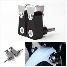 2 Pcs Black Metal Alloy Motorcycle Bikes Fog Lamps Spot Lights Modified Bracket