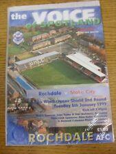 05/01/1999 Rochdale v Stoke City [Auto Windscreens Shield] . Good condition unle
