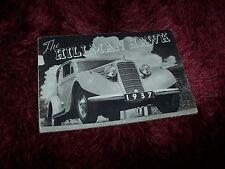Prospectus / Brochure HILLMAN HAWK 1937 //