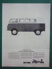 1966 PUB SHORT SKYVAN VW KOMBI COMBI TURBOMECA ASTAZOU XII ORIGINAL FRENCH AD