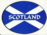 Scotland Saltire Scottish Flag Oval External Car Bumper Sticker Decal