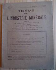 REVUE DE L'INDUSTRIE MINÉRALE N°161 (1927) MINE / USA/ GRÈVES ANGLAISES DE 1926