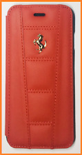 New Red Ferrari Official Licensed iPhone 6 Flip Case/Cover Real Leather A5