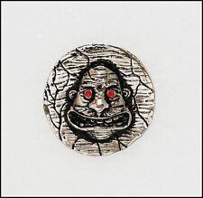 Anthrax Not! 1990 Die Cast Pin Pinback Badge Brockum Red Eyes Version