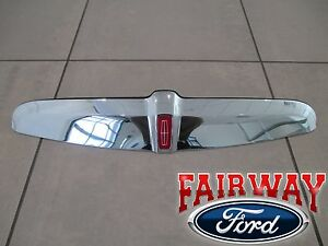 98 thru 02 Lincoln Town Car Chrome Grille Molding with Red Lincoln Emblem - NEW