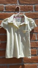 CHEROKEE GIRLS POLO YELLOW WITH SPARKLES SIZE 14