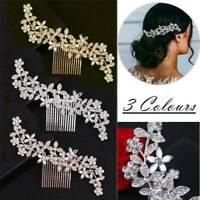 Wedding Hair Pins Bridal Diamante Crystal Slide Comb Bride Accessories Jewelry*1