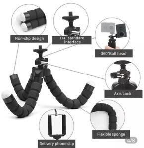 Black Small Flexible Octopus Tripod / Gorillapod for Digital Camera / Mobile Pho
