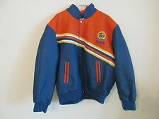 Tide Downy Nascar Racing Jeff Hamilton Mens Leather Jacket Size XL Orange & Blue