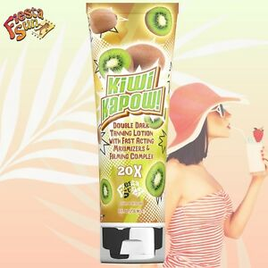 Kiwi Kapow Dark Fast Action Sunbed Tanning Accelerator Lotion + FREE GOGGLES