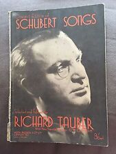 "1936 ""CONCERT EDITION OF SCHUBERT SONGS"" RICHARD TAUBER SHEET MUSIC SONGBOOK"