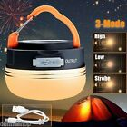 NEW Portable Rechargeable LED Hiking Camping Tent Lantern Light USB Lamp Outdoor