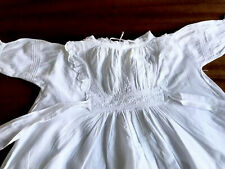 Antique Childs Hand Embroidered LACE White Cotton BABY / DOLLS DRESS