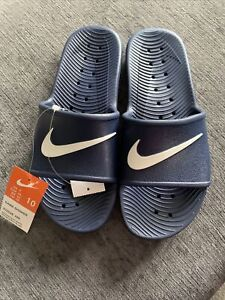 Nike Mens Kawa Sliders Shoes Casual Slip Ons Blue Size UK SIZE 9