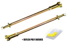 CLASSIC MINI FRONT ADJUSTABLE SUSPENSION TIE BARS RODS DEFLEX POLY BUSHES X2496
