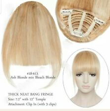 CLIP IN REMY REAL HAIR EXTENSION , CLIP IN FRINGE 18/613 BLONDE NEW