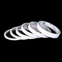 2 Rolls Strong Permanent Transparent Double Sided Self Adhesive Tape 5-15mm TDJB