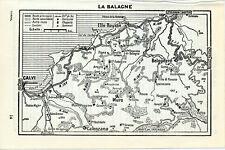 Corse La Balagne 1959 pt. carte + guide (10 p.) Lumio Belgodere Corbara Aregno