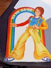 Vintage 1979 Mork & Mindy Laminated Jumbo Cardstock Sign Decor Collectible