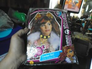 Adult Monster High Clawdeen Wolf Brown And Red Costume Wig