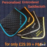 Personalised quality saddlecloth / numnah -embroidered BOTH sides!