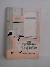 1953 Westinghouse Refrigerators Recipes Care & Use Booklet
