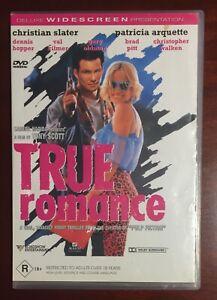 TRUE ROMANCE - DVD - LIKE NEW - REGION 4 - CULT CLASSIC - RARE & HTF