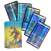 Tarot Cards Divination 78 Cards Tarot Deck Shine Waite Oracle Card Holographic