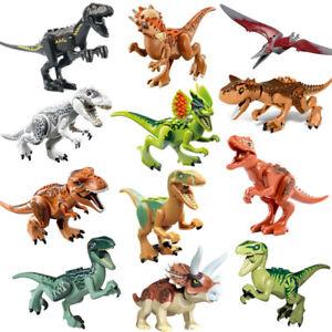 12x Dinos fit Jurassic World Lego Dinosaure Tyrannosaurus TRex Park Raptor Jouet