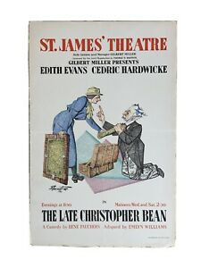 THE LATE CHRISTOPHER BEAN St. James' Theatre Window Lobby Card Poster 1933
