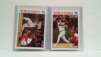 1991 Fleer 1990 World Series #3 and #4 Oakland and Reds