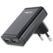 CC80 ANSMANN 1201-0001 Dual USB 2.0 Slim Adapter Ladegerät Netzteil für Apple iP